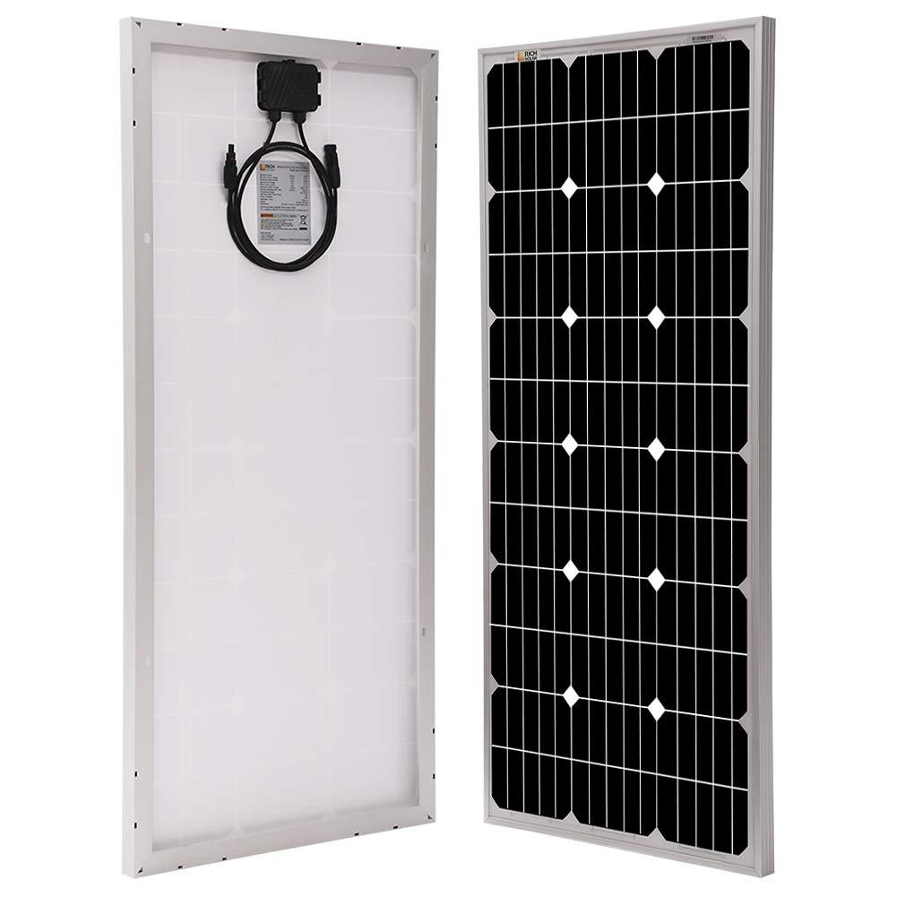 Richsolar 100 Watt 12 Volt Monocrystalline Solar Panel with MC4 Connectors 12 Volt Battery Charging RV, Boat, Off Grid 100W