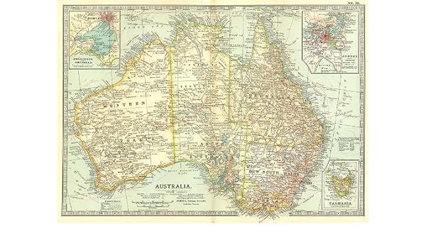 Melbourne Map Australia.Amazon Com Australia Inset Melbourne Port Phillip Sydney