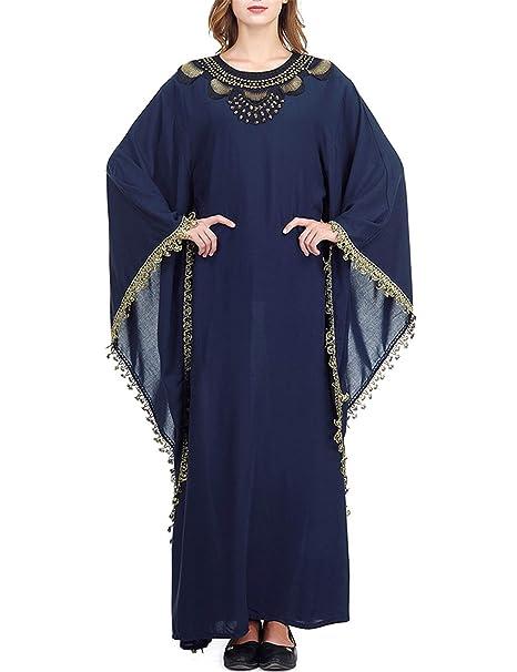 buy online b5636 346df Qianliniuinc Abaya Donna Musulmano Maxi Abito - Vestiti ...