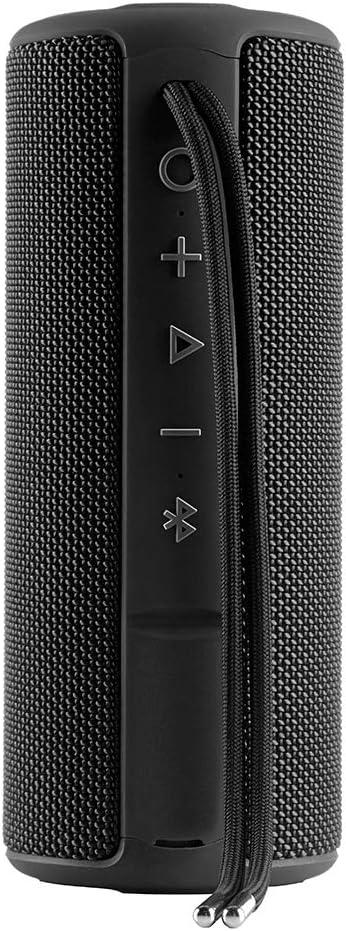 Vieta Pro Goody - Altavoz inalámbrico (True Wireless Bluetooth, Radio FM, Reproductor USB, auxiliar, micrófono integrado, resistencia al agua IPX6, batería de 12 horas) negro