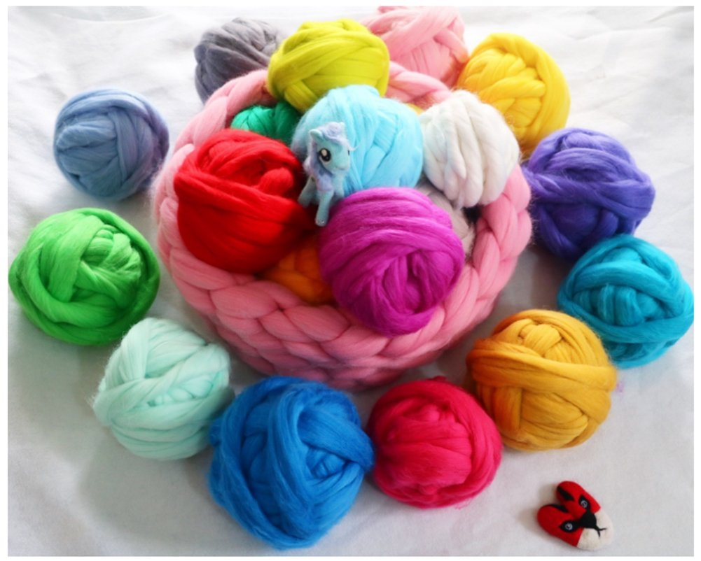 Wool Roving For Felting Spinning And Making Dreadlocks Craft DIY Needle Felting Wool Tops Navy Blue