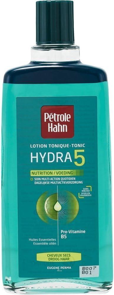 Petróleo Hahn – Loción Tónica Hydra 5 Nutrición para cabello seco 300 ml. Pack de 2