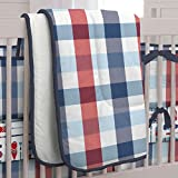 Carousel Designs Navy and Red Buffalo Check Crib Comforter