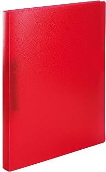 20 mm R/ückenbreite 1 St/ück mit 2-Ring-Mechanik Ringbuch im Format DIN A4 rot Idena 10432
