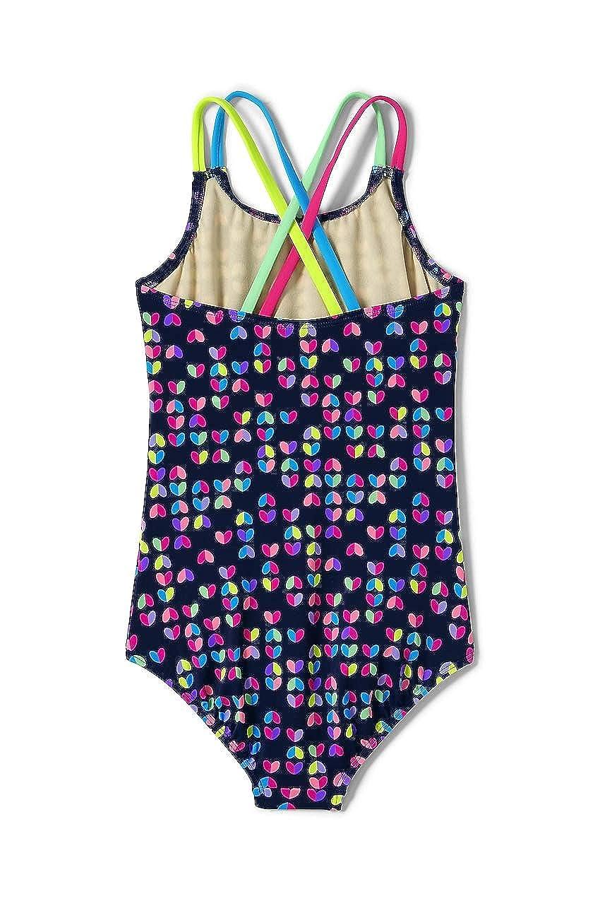 37a11c42a700d Amazon.com: Lands' End Girls Slim Cross Back One Piece Swimsuit: Clothing