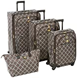 Anne Klein Madison 4 Piece Luggage Set, Black