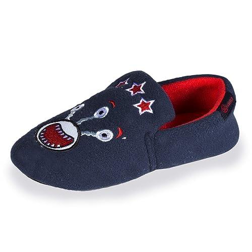Isotoner - Zapatillas de Estar por Casa Niños, Azul (Azul), 29/30 EU: Amazon.es: Zapatos y complementos