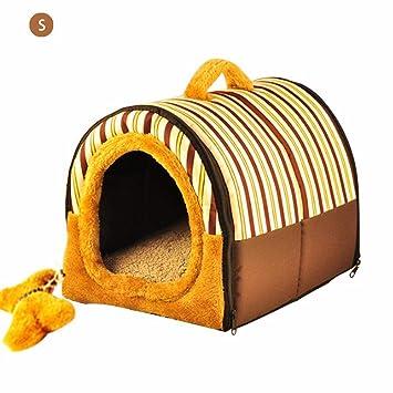 Lâ Vestmon Perro casa y sofá Nido Plegable Gato Cueva Lavado Bar Perros Cueva Saco de Dormir Cesta Caseta Mascotas Casa para para pequeño Perro Gato: ...