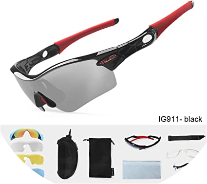 Outdoor Cycling Sunglasses Polarized Fashion Sports Glasses with 2 5 Lens