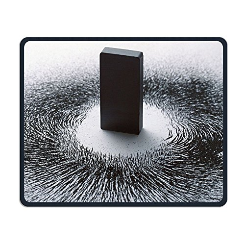 Mouse Pad Magnet Iron Powder Rectangle Non-Slip 9.8in11.8 In Unique Designs Gaming Rubber Mousepad Stitched Edges Mouse Mat ()