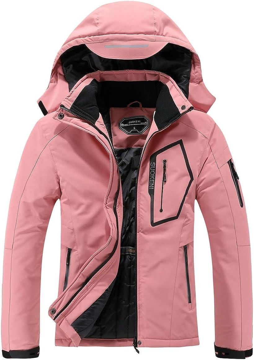 Women's Waterproof Ski Jacket Warm Winter Snow Coat Hooded Raincoat: Clothing