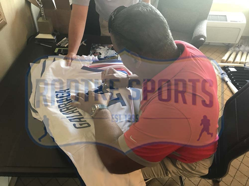 Andres Galarraga Autographed//Signed Montreal White Custom Jersey
