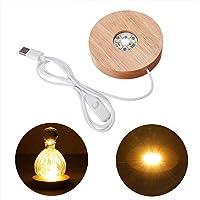 Wankd lichtsokkel LED licht onderzetter voor glazen blok sfeerverlichting baar sokkel warm wit LED tentoonstelling…