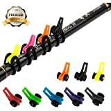 Fishing Rod Hook Keeper with 3 Size Elastic Rubber Rings Fishing Lure Bait Holder Small Fishing Tools Easy Adjustable Plastic Fishing Pole Hook Keeper Springs 4 Sets/8 Sets