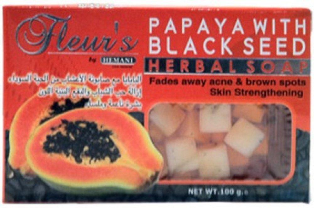 Hemani Fleurs Papaya with Black Seed Soap 100 gm X 2 (PACK