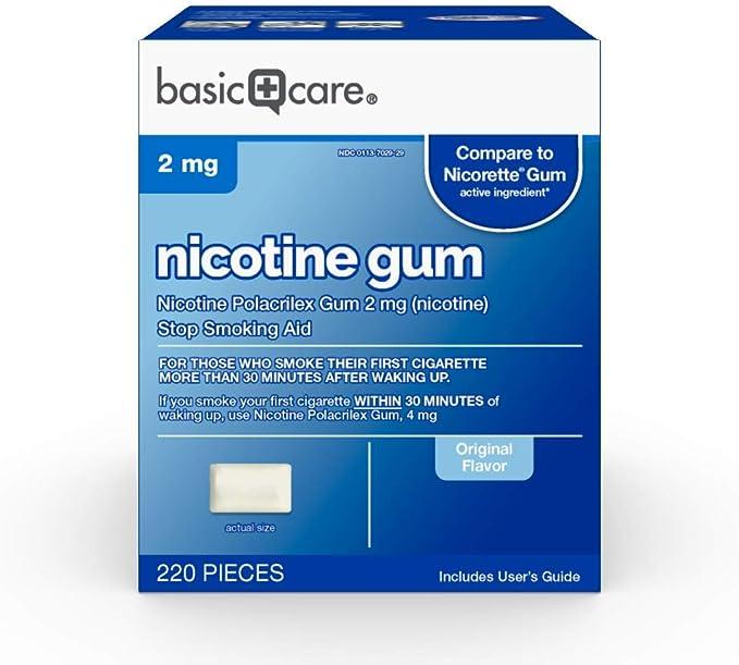 Basic Care Nicotine Polacrilex Gum, 2 mg (nicotine)