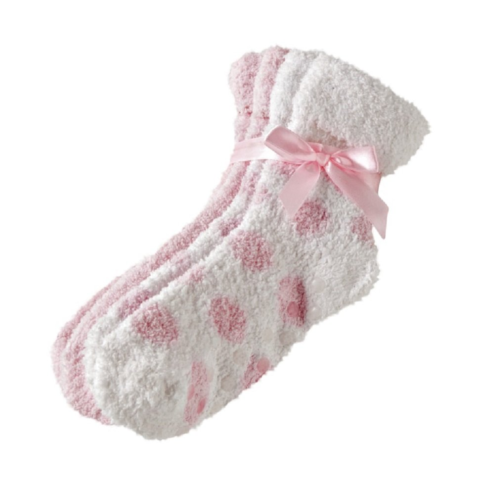2 Pack of Earth Therapeutics Therasoft Ultra Plus Moisturizing Socks with Shea Butter in Pink : Foot Creams : Beauty