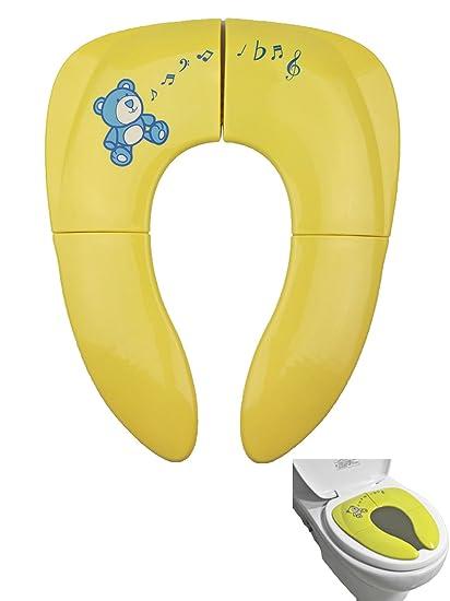 Tomkity Asiento de inodoro para niños Tapa WC Plegable