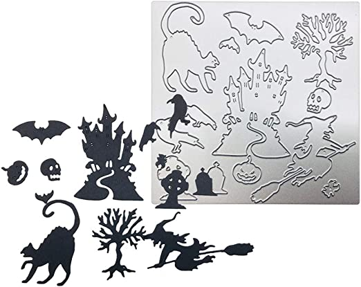Cat Metal Halloween Cutting Dies Stencil Scrapbooking Paper Card Embossing Craft