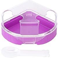 POPETPOP Hamster Bathroom,Hamster Plastic Bathroom 2 Mouths Potty Bath Sand Room Sauna Triangle Lovers Bath Cage with…
