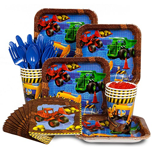 Construction Party Supplies Standard Kit Serves 8 Guests (Construction Theme Party Ideas)