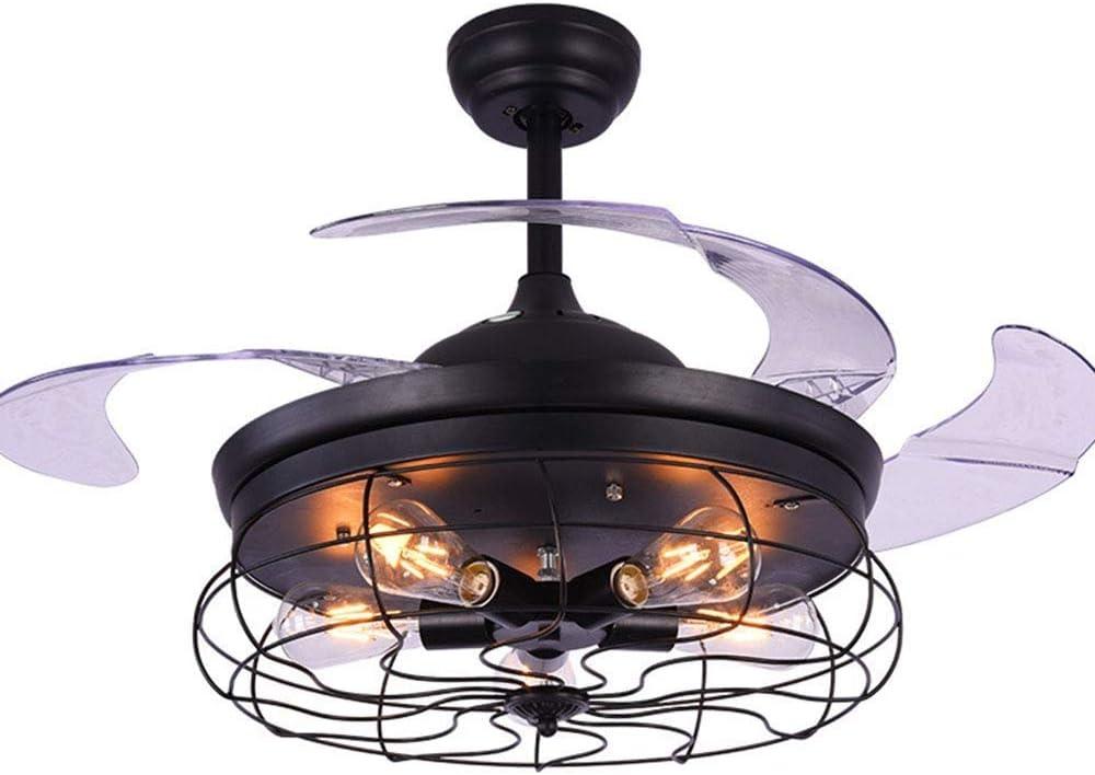 YSJ LTD 42in 5 luces Ventilador de techo LED Luz industrial ...