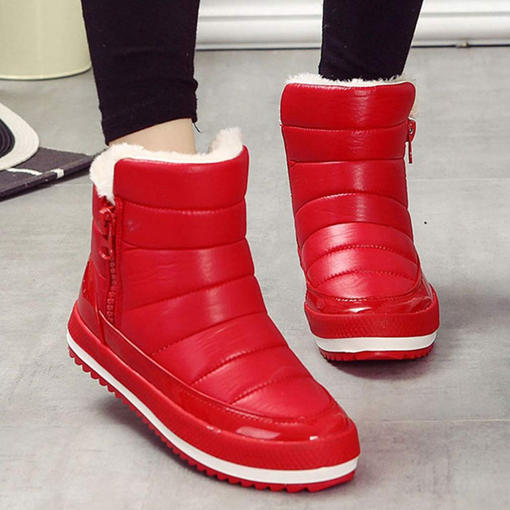 Botas Botas Botas de Nieve para Mujer Calzado de Felpa Forrada al Aire Libre Antideslizante Botines Impermeables al Aire Libre 6118e8