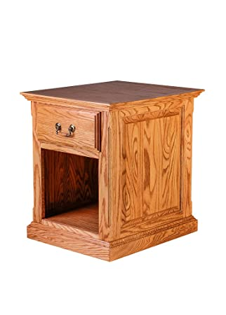 Gentil Forest Designs Traditional Oak End Table W/Raised Panel Sides: 20W X 25H X