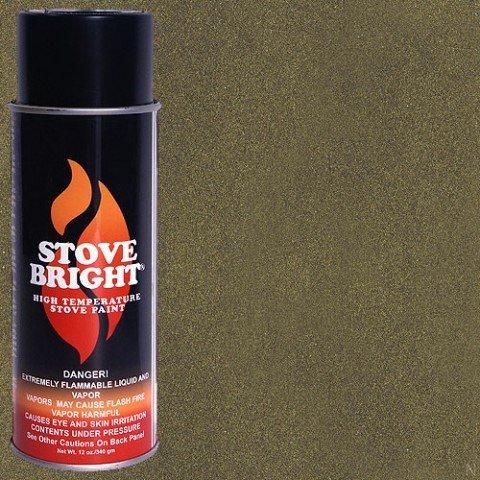 Stove Bright TI-8121 High Temperature Paint, 1200 Degree F Operating Temperature Range, 12 oz Aerosol, Honey Glo Brown (Fireplace Black Paint)