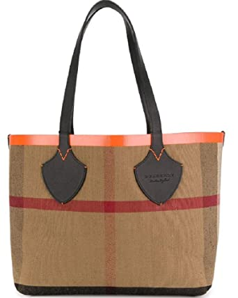 399fb7c5461d Amazon.com  Burberry Women s Medium Giant Reversible Tote in Canvas and  Leather Orange  Clothing