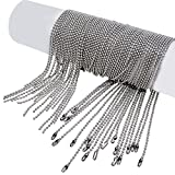 dog tag chains stainless steel - Pistha 20 Pieces Stainless Steel Bead Chain 30 Inches Ball Chain Necklaces