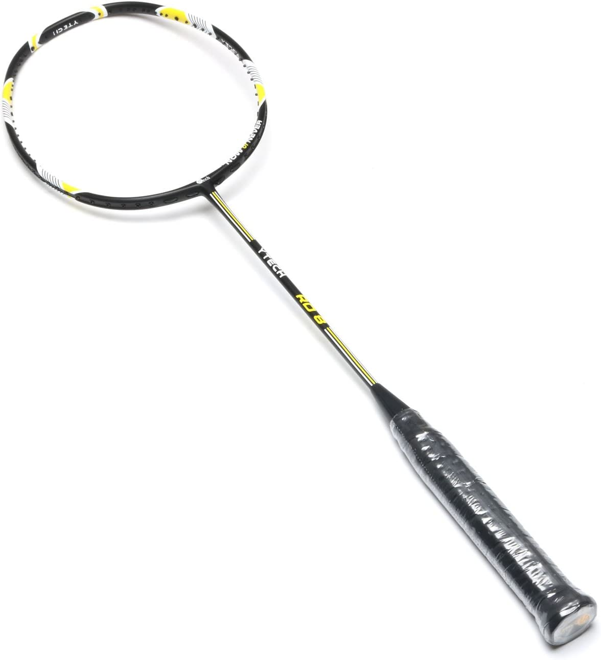 YTech Japan AT700 Carbon Yarn M30 Combination Single Badminton Racket with Full Carbon Fiber, Foamed Solid core Frame, 4U 80-84 g , Offensive, Durable and Ultra-Light Badminton Racket