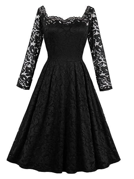 VERNASSA Los Vestidos Retros del cordón 50s, Vestidos Formales del oscilación del cordón Floral del