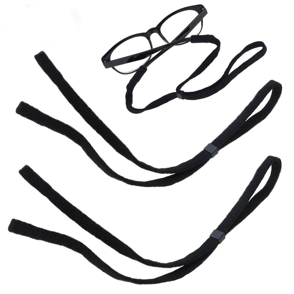 MINGZE Fermo per occhiali regolabile, cinturino per occhiali sportivo, occhiali di sicurezza corda, occhiali da vista,elastico cordino per cordino, set di 5