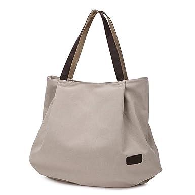 8be70487dab6 Amazon.com: Lovelelify Women Canvas Shoulder Bags HandBag Large ...