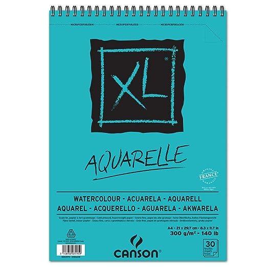 CANSON 400039170 Skizzen- und Studienblock XL Aquarelle, DIN A4