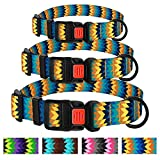 "CollarDirect Designer Dog Collar with Buckle, Nylon Adjustable Collars for Dogs Puppy Small Medium Large, Colorful, Tribal and Comfort (Neck Fit 12""-16"", Yellow/Blue)"