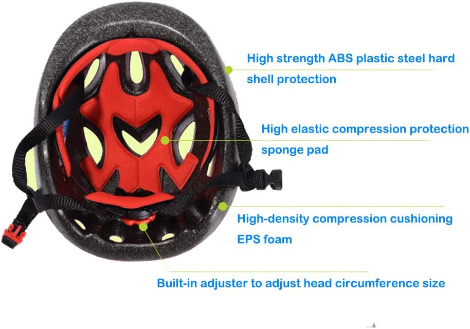 YF-SHIELD Kids 7 Pieces Outdoor Sports Protective Gear Set Boys Girls Cycling Helmet Safety Pads Set Knee/&Elbow Pads and Wrist Guards for Roller Scooter Skateboard Bicycle
