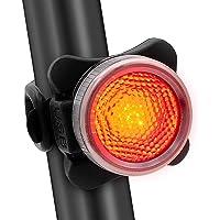 Redlemon Luz Trasera para Bicicleta con Luz Roja y Azul LED Resistente al Agua 5 Modos de Iluminación y Batería Recargable de Larga Duración. Negro