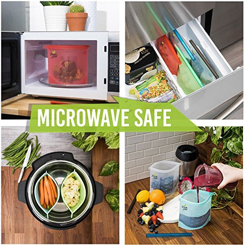 Top 10 Best Reusable Silicone Food Storage & Freezer Bags Reviews 2019-2020 cover image