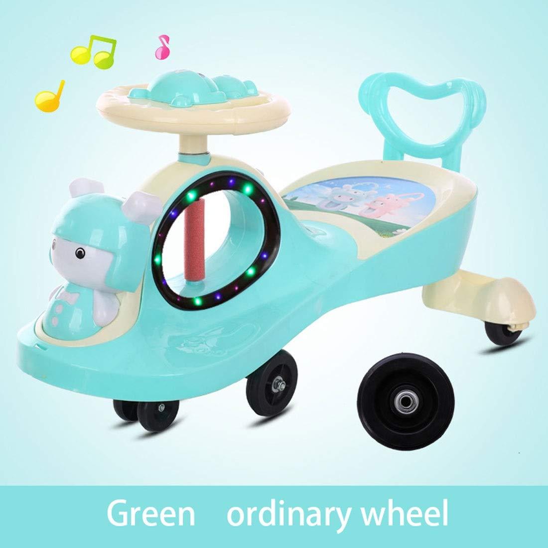 Rosa day Kinder Drehen Auto Mit Musik Stumm Caster Wiegende Roller 1-3-6 Jahre Altes Babyauto 78  40  40CM (Farbe   A1 ) B2