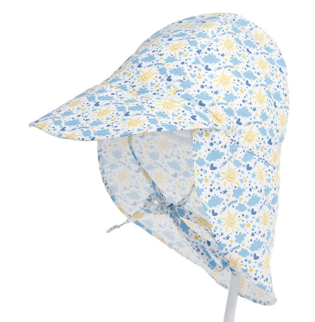 UV Ray Sun Protection Baby Hat w//Neck Flap /& Drawstring Summer Outdoor Baby Girl Boy Sun Beach Cotton Hat for 6-18 months A Toddler Infant Kids Sun Cap-Diadia UPF 50