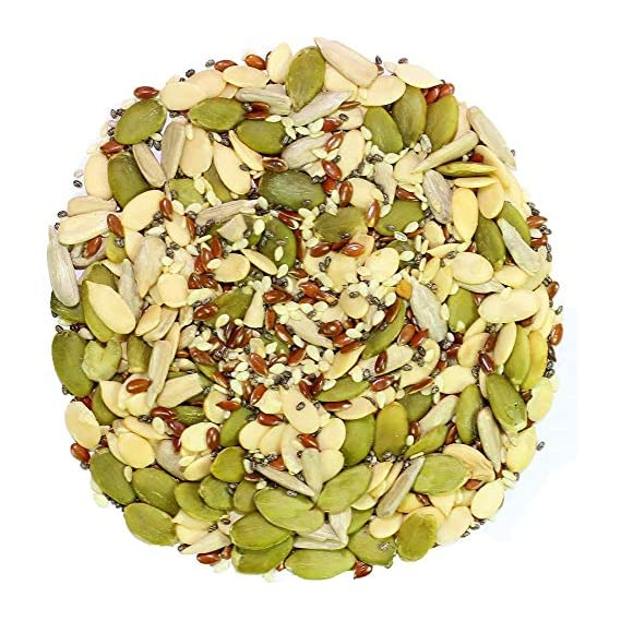 Dry Fruit Hub Healthy Raw Seeds Combo, 600gms (Pumpkin Seeds, Sunflower, Sesame, Chia, Flax Seeds, Watermelon Seeds), Seeds Mix for Eating, Seeds Mix, Seeds Eating for Organic