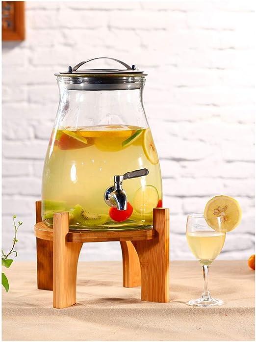 Dispensador de Agua WMM-Water con Estante, dispensador de Bebidas de 5 litros, latas Selladas de Vidrio de Fruta y enzima: Amazon.es: Hogar