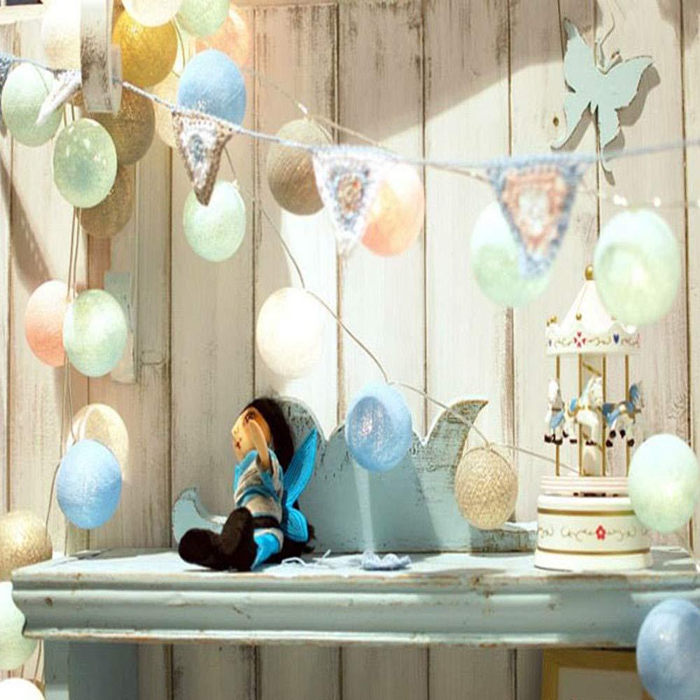 B Lichterkette,FeiliandaJJ 3M 20pcs Farbe Baumwollfaden Ball LED Licht Hochzeit Party Xmas Innen//Au/ßen Haus Deko String Lights