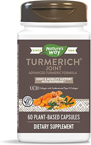 Nature s Way TurmeRich Joint Advanced Turmeric Formula, Joint Mobility Support with BioPerine, 60 Count