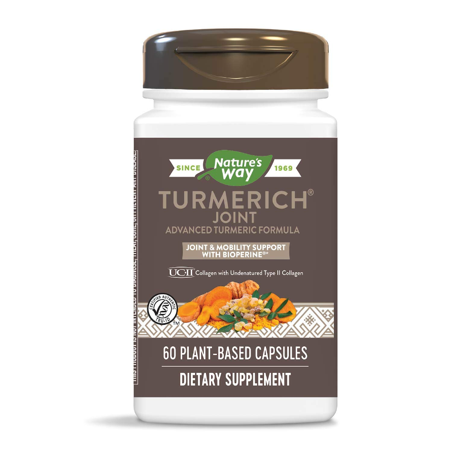 Nature s Way TurmeRich Joint Advanced Trip-Action Joint and Mobility Formula with BioPerine for Turmeric Bioavailability, 60 Plant-Based Capsules