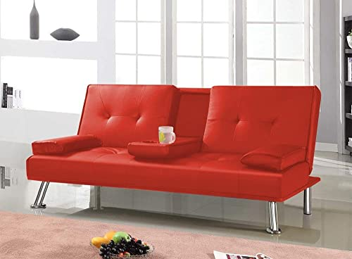 Popamazing Cheap Cinema Style 3 Seater Faux Leather Sofa