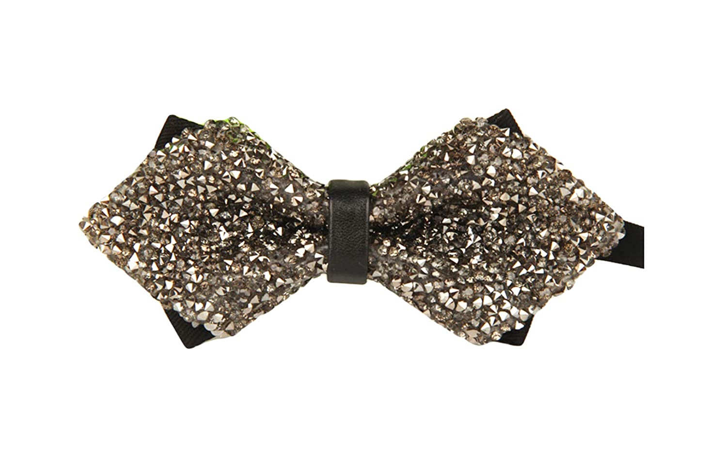 MENDENG Mens Novelty Sequin Sparkling Bow Tie Noble Pretied Wedding Accessories