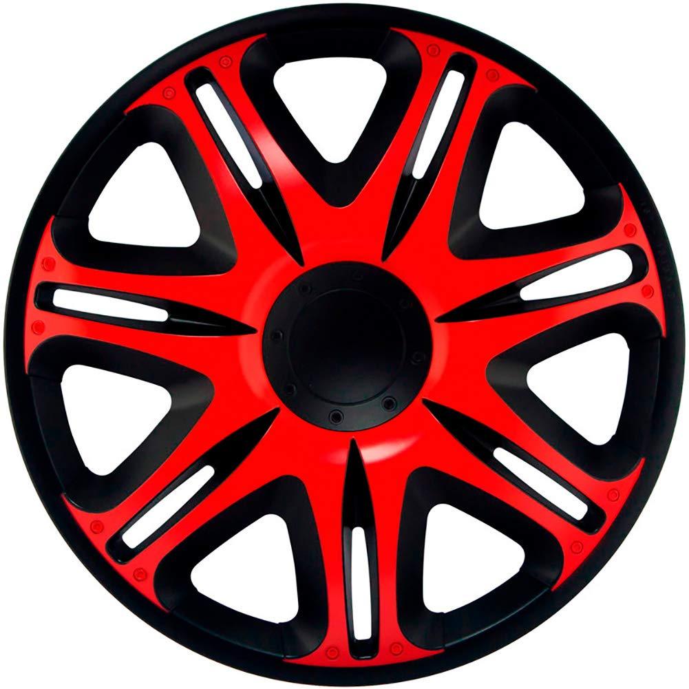 J-Tec J15512 Jeu denjoliveurs Nascar 15-inch Noir//Rouge